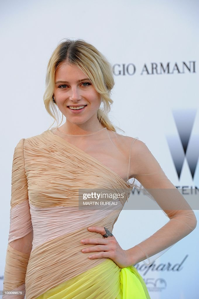 US model Dree Hemingway arrives at amfAR's Cinema Against Aids 2010 benefit gala on May 20, 2010 in Antibes, southeastern France.