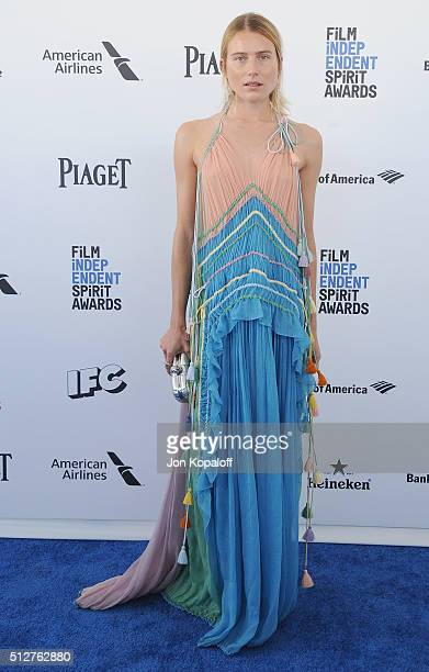 Model Dree Hemingway arrives at the 2016 Film Independent Spirit Awards on February 27 2016 in Los Angeles California