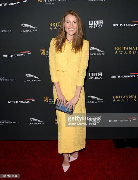 Model Dree Hemingway attends the 2013 BAFTA LA Jaguar Britannia Awards presented by BBC America at The Beverly Hilton Hotel on November 9 2013 in...