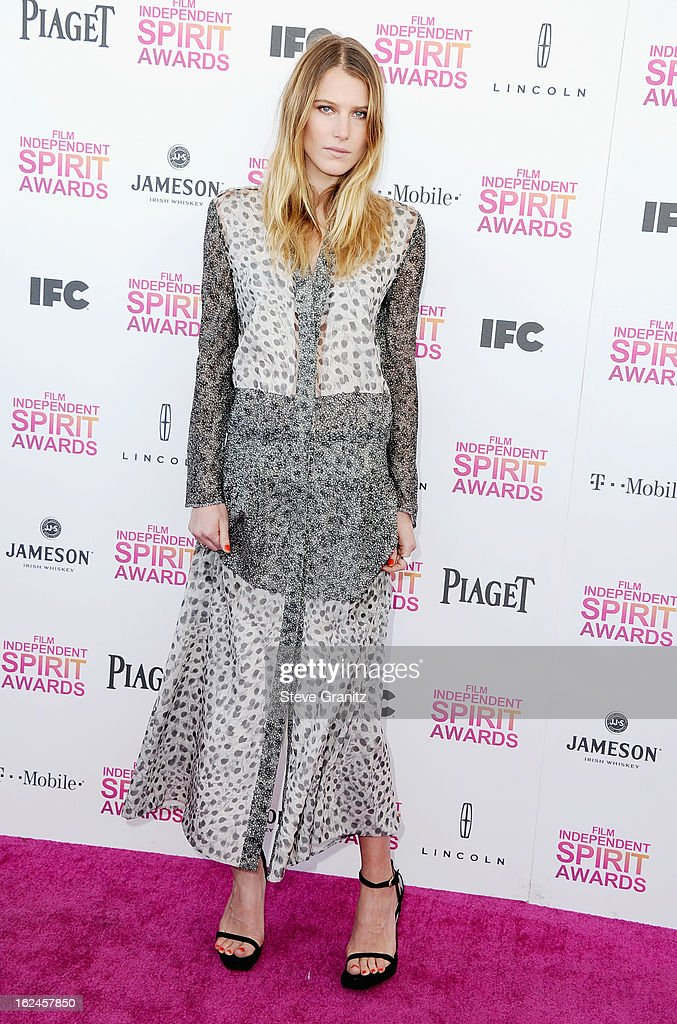 Model Dree Hemingway attends the 2013 Film Independent Spirit Awards at Santa Monica Beach on February 23, 2013 in Santa Monica, California.
