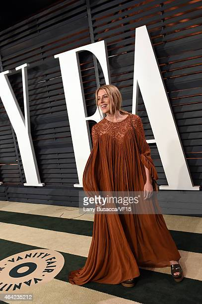 Model Dree Hemingway attends the 2015 Vanity Fair Oscar Party hosted by Graydon Carter at the Wallis Annenberg Center for the Performing Arts on...