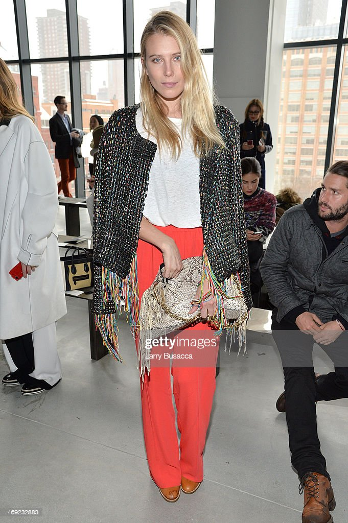 Model <a gi-track='captionPersonalityLinkClicked' href=/galleries/search?phrase=Dree+Hemingway&family=editorial&specificpeople=5650645 ng-click='$event.stopPropagation()'>Dree Hemingway</a> attends the Calvin Klein Collection fashion show during Mercedes-Benz Fashion Week Fall 2014 at Spring Studios on February 13, 2014 in New York City.
