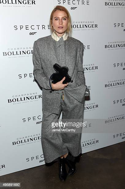 Model Dree Hemingway attends the 'Spectre' prerelease screening hosted by Champagne Bollinger and The Cinema Society at the IFC Center on November 5...