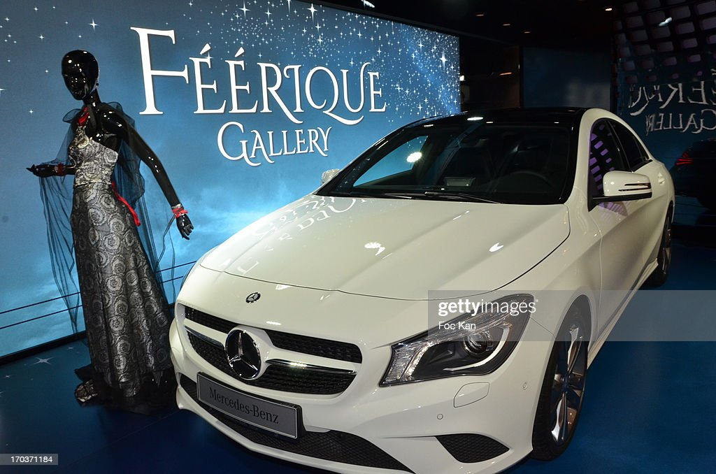 A model dressed by Zelia Van den Bulke is exhibited during the 'Feerique Gallery' Zelia Van Den Bulke Exhibition At Espace Mercedes Champs Elysees on June 11, 2013 in Paris, France.