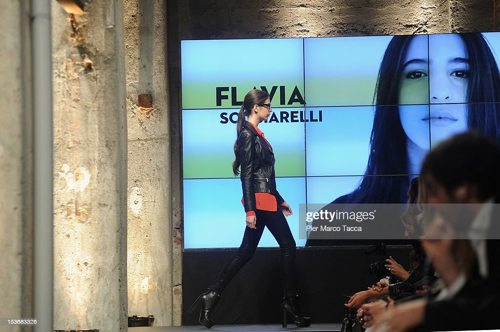 A model during 2012 Elite model look Italia on October 8, 2012 in Milan, Italy.