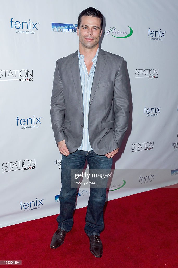Model Dustin Moss arrives at Playboy Radio's Hollywood Casino Night benefiting The Leukemia & Lymphoma Society's Hodgkins Haters at W Hollywood on August 1, 2013 in Hollywood, California.