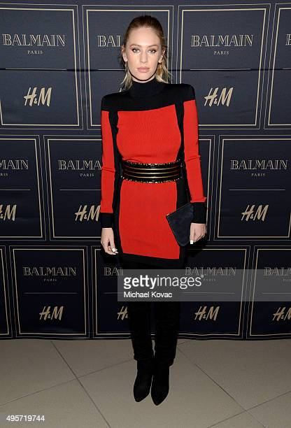 Model Dylan Frances Penn attends the Balmain x HM Los Angeles VIP PreLaunch on November 4 2015 in West Hollywood California
