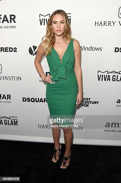 Model Dylan Penn attends amfAR's Inspiration Gala Los Angeles at Milk Studios on October 29 2015 in Hollywood California