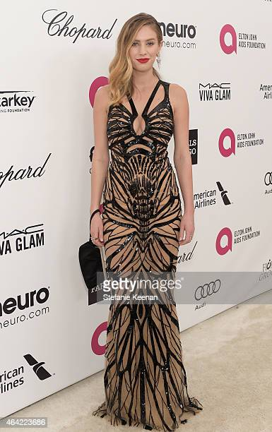 Model Dylan Penn attends the 23rd Annual Elton John AIDS Foundation Academy Awards viewing party with Chopard on February 22 2015 in Los Angeles...