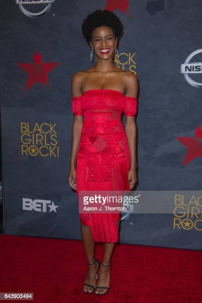 Model Ebonee Davis attends Black Girls Rock at New Jersey Performing Arts Center on August 5 2017 in Newark New Jersey