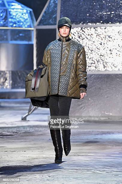 Model Edie Campbell walks the runway during the HM show as part of the Paris Fashion Week Womenswear Fall/Winter 2015/2016 on March 4 2015 in Paris...