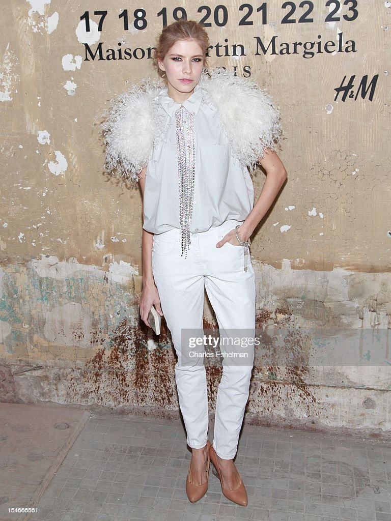 Model Elena Perminova attends the Maison Martin Margiela & H&M Global launch party at 5 Beekman on October 23, 2012 in New York City.