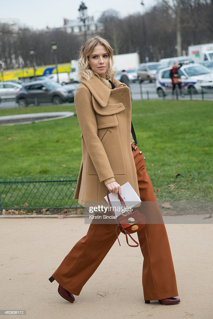 Model Elena Perminova wears all Chloe on day 3 of Paris Haute Couture Fashion Week Spring/Summer 2015, on January 27, 2015 in Paris, France.