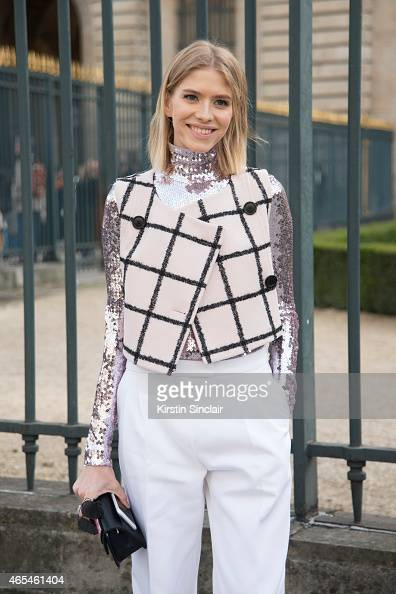 Model Elena Perminova wears all Dior on day 4 of Paris Collections Women on March 06 2015 in Paris France