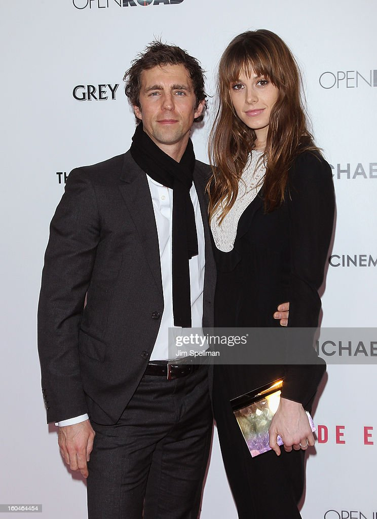 Model Elettra Rossellini Wiedemann (R) and husband James Marshall attend the Open Road With The Cinema Society And Michael Kors Host The Premiere Of 'Side Effects' at AMC Lincoln Square Theater on January 31, 2013 in New York City.