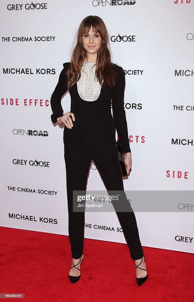 Model Elettra Rossellini Wiedemann attends the Open Road With The Cinema Society And Michael Kors Host The Premiere Of 'Side Effects' at AMC Lincoln Square Theater on January 31, 2013 in New York City.
