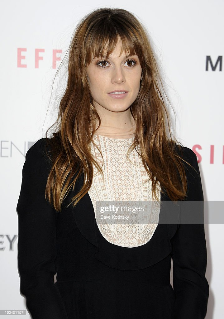 Model Elettra Rossellini Wiedemann attends the premiere of 'Side Effects' hosted by Open Road with The Cinema Society and Michael Kors at AMC Lincoln Square Theater on January 31, 2013 in New York City.