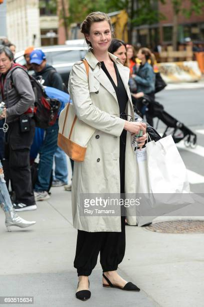 Model Elettra Rossellini Wiedemann leaves the 'AOL Build' taping at the AOL Studios on June 07 2017 in New York City