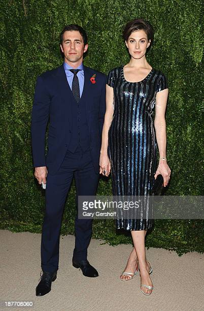 Model Elettra Wiedemann and husband James Marshall attend The CFDA and Vogue 2013 Fashion Fund Finalists Celebration at Spring Studios on November 11...