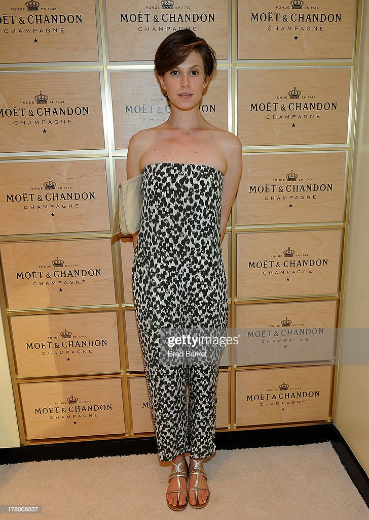 Model Elettra Wiedemann attends he Moet & Chandon Suite at USTA Billie Jean King National Tennis Center on August 26, 2013 in New York City.