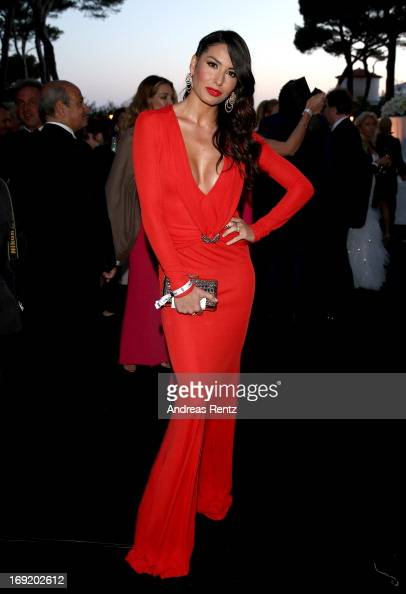 Model Elisabetta Gregoraci attends the 'De Grisogono' Party during The 66th Annual Cannes Film Festival at Hotel Du Cap Eden Roc on May 21 2013 in...