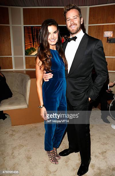 Model Elizabeth Chambers and Armie Hammer attend the 2014 Vanity Fair Oscar Party Hosted By Graydon Carter on March 2 2014 in West Hollywood...