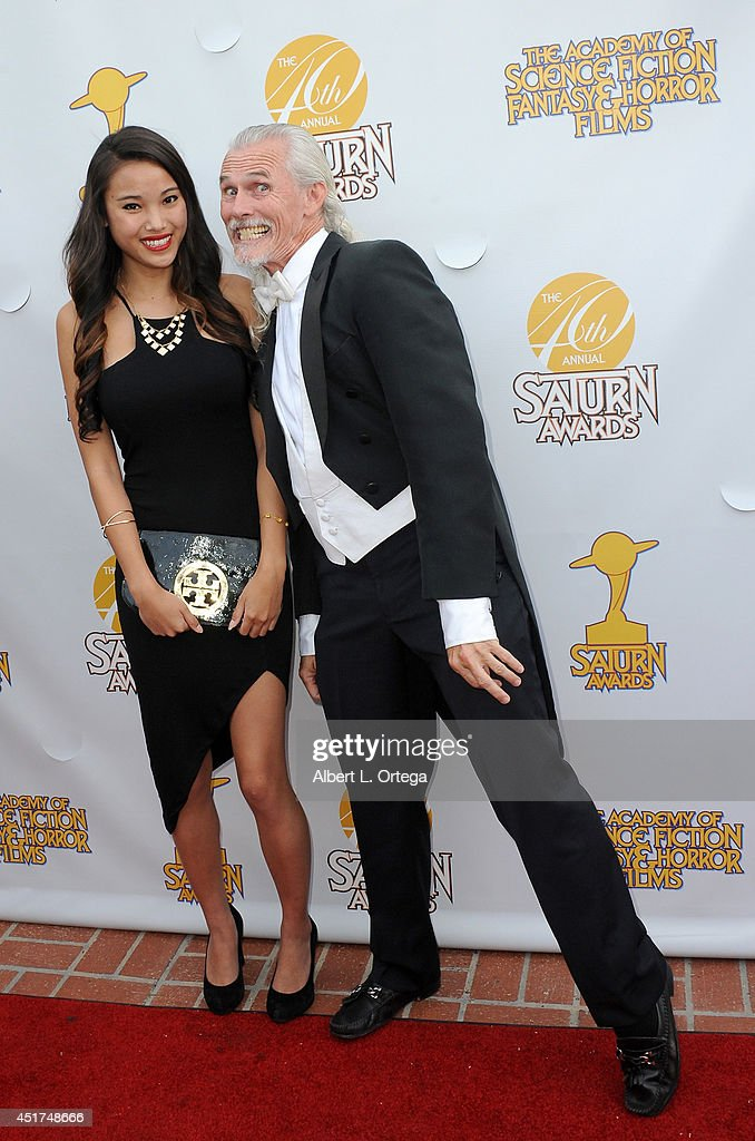Model <a gi-track='captionPersonalityLinkClicked' href=/galleries/search?phrase=Ella+Chen&family=editorial&specificpeople=4386724 ng-click='$event.stopPropagation()'>Ella Chen</a> and actor <a gi-track='captionPersonalityLinkClicked' href=/galleries/search?phrase=Camden+Toy&family=editorial&specificpeople=2930735 ng-click='$event.stopPropagation()'>Camden Toy</a> arrive for the 40th Annual Saturn Awards held at The Castaway on June 26, 2014 in Burbank, California.
