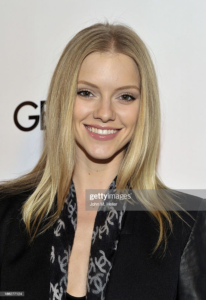 Model Elle Evans attends Genlux Magazine's Hosting of Photographer Gilles Bensimon's portraits at the Sofitel Hotel on October 29, 2013 in Los Angeles, California.