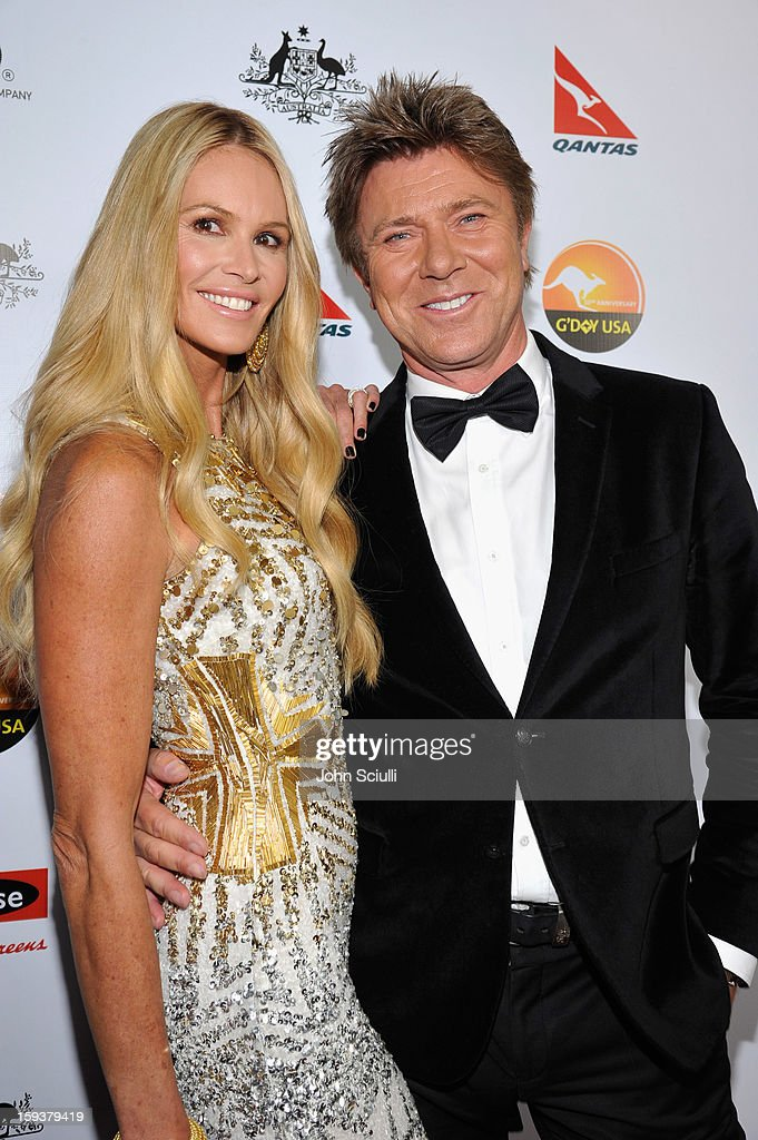 Model Elle Macpherson and Richard Wilkins arrive at the 2013 G'Day USA Los Angeles Black Tie Gala at JW Marriott Los Angeles at L.A. LIVE on January 12, 2013 in Los Angeles, California.