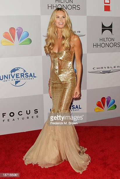 Model Elle Macpherson arrives at NBC Universal's 69th Annual Golden Globe Awards After Party at The Beverly Hilton hotel on January 15 2012 in...