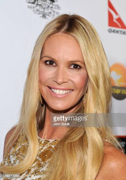 Model Elle Macpherson arrives at the 2013 G'Day USA Los Angeles Black Tie Gala at JW Marriott Los Angeles at LA LIVE on January 12 2013 in Los...