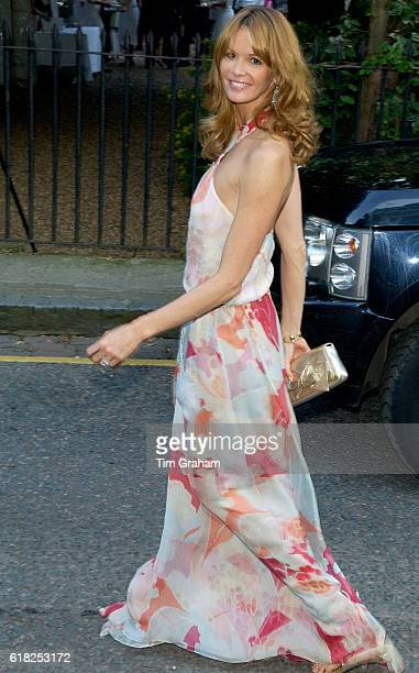 Model Elle Macpherson attends a celebrity party hosted by broadcaster Sir David Frost in Chelsea