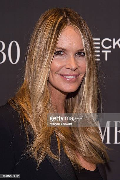Model Elle Macpherson attends the 'Trumbo' New York premiere at MoMA Titus Two on November 3 2015 in New York City