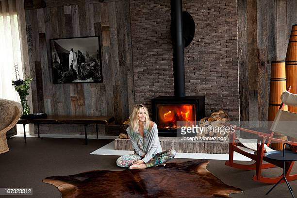Model Elle Macpherson is photographed at home for Yoo Magazine on May 3 2012 in Cotswolds England ON EMBARGO UNTIL MAY 17 2013