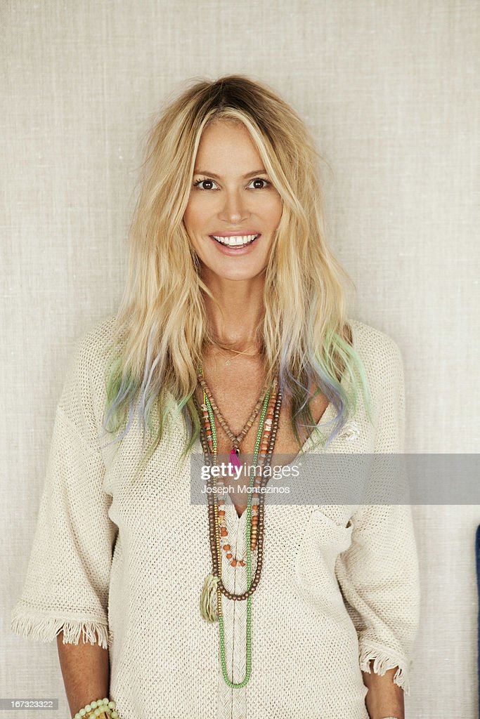 Model Elle Macpherson is photographed at home for Yoo Magazine on May 3, 2012 in Cotswolds, England. ON