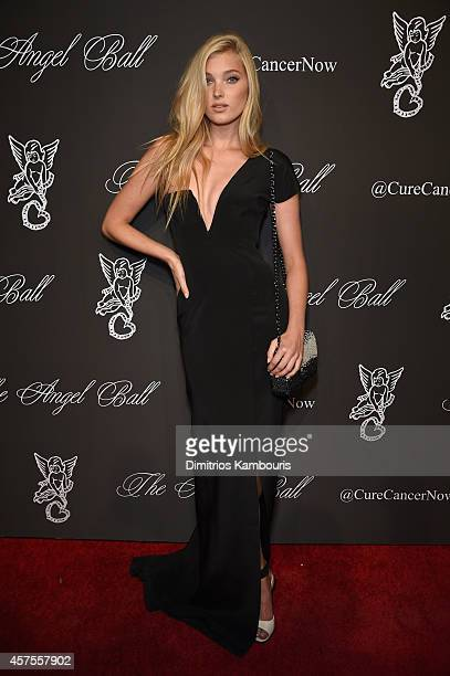 Model Elsa Hosk attends Angel Ball 2014 hosted by Gabrielle's Angel Foundation at Cipriani Wall Street on October 20 2014 in New York City