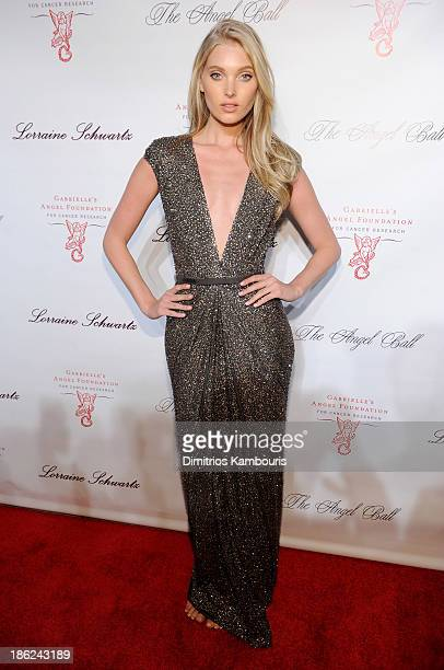 Model Elsa Hosk attends Gabrielle's Angel Foundation Hosts Angel Ball 2013 at Cipriani Wall Street on October 29 2013 in New York City