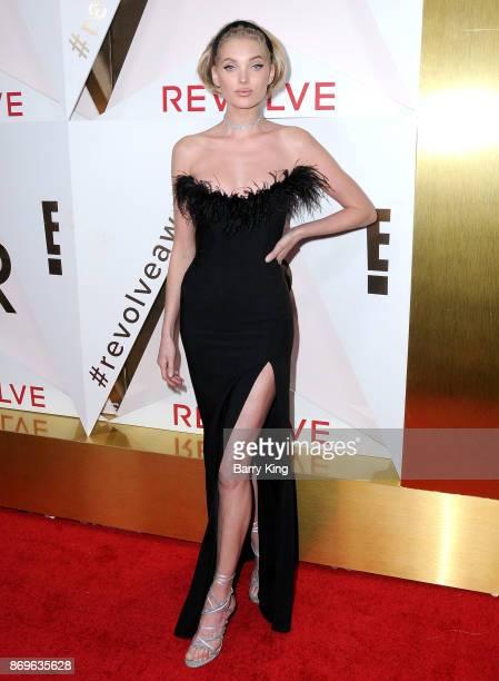 Model Elsa Hosk attends #REVOLVEawards at DREAM Hollywood on November 2 2017 in Hollywood California