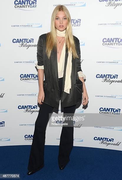 Model Elsa Hosk attends the annual Charity Day hosted by Cantor Fitzgerald and BGC at Cantor Fitzgerald on September 11 2015 in New York City