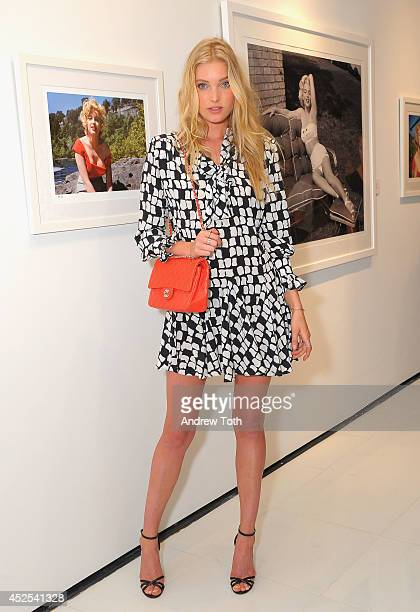 Model Elsa Hosk attends the 'MARILYN The Lost Photos Of A Hollywood Star' opening night exhibit at Sumo New York on July 22 2014 in New York City