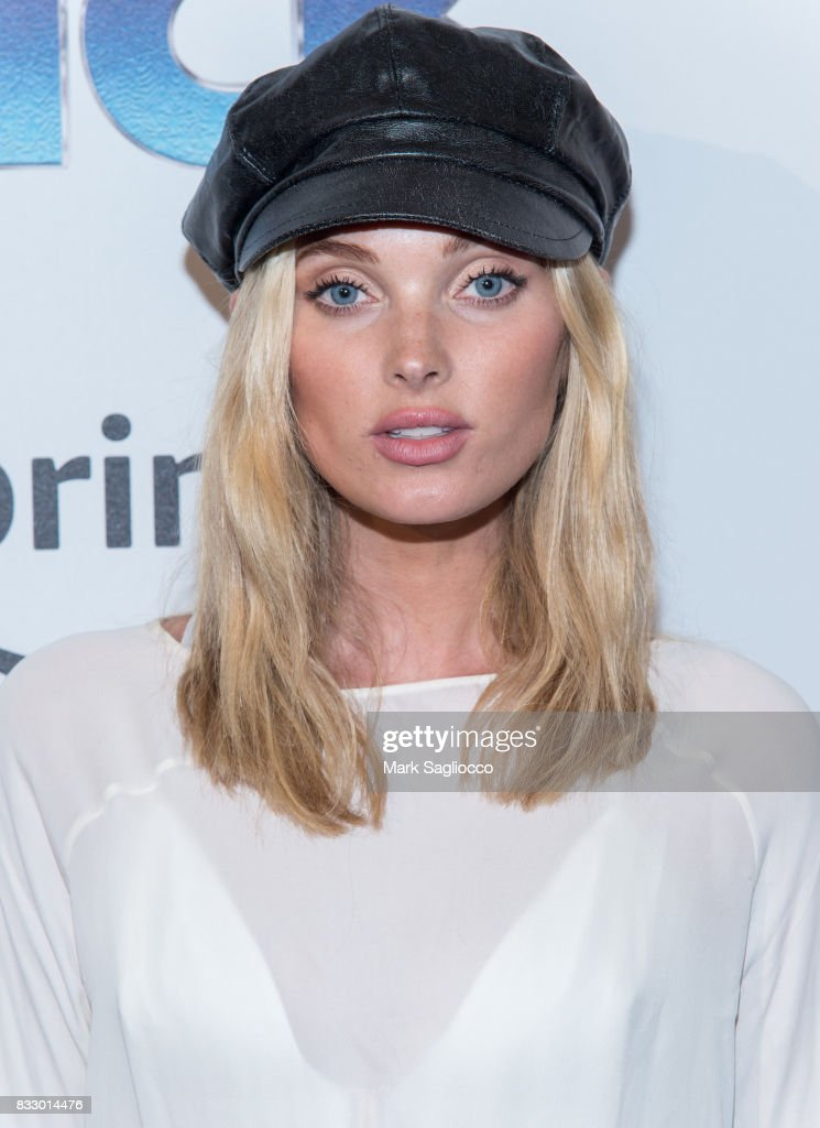 Model Elsa Hosk attends the 'The Tick' Blue Carpet Premiere at Village East Cinema on August 16, 2017 in New York City.