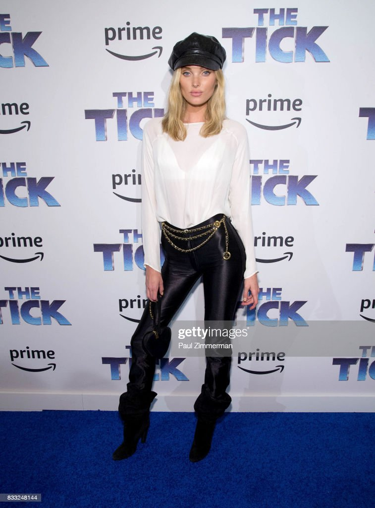 Model Elsa Hosk attends 'The Tick' Blue Carpet Premiere at Village East Cinema on August 16, 2017 in New York City.