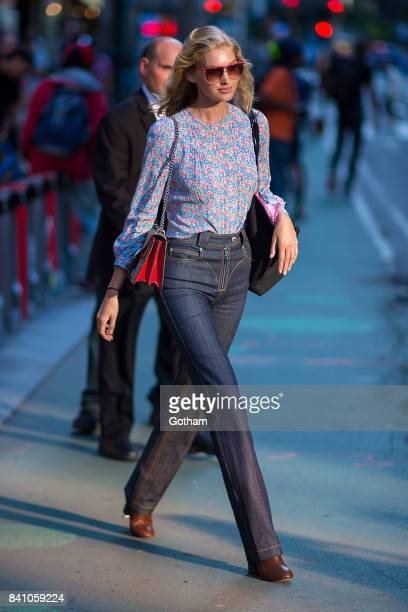 Model Elsa Hosk is seen going to fittings for the 2017 Victoria's Secret Fashion Show in Midtown on August 30 2017 in New York City
