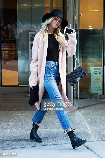 Model Elsa Hosk is seen in Midtown on November 8 2015 in New York City