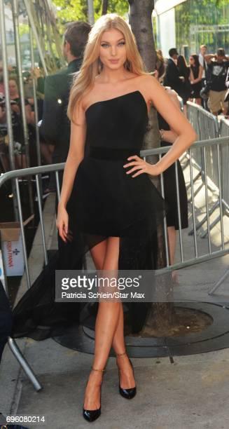 Model Elsa Hosk is seen on June 14 2017 in New York City