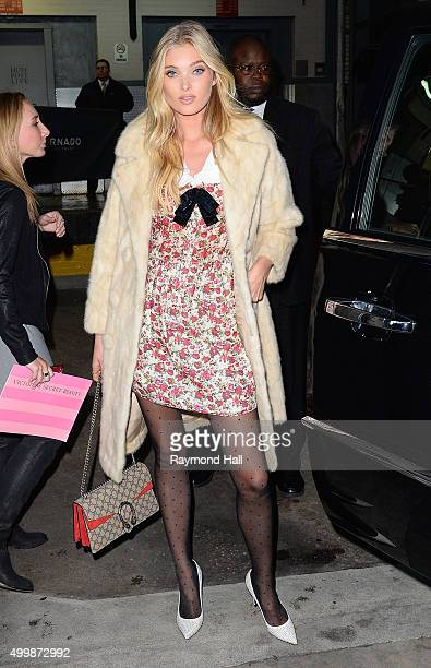 Model Elsa Hosk is seen outside 'Huff Post Live' on December 3 2015 in New York City