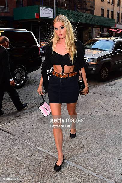 Model Elsa Hosk is seen walking in Soho on July 26 2016 in New York City