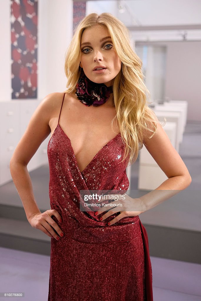 Model <a gi-track='captionPersonalityLinkClicked' href=/galleries/search?phrase=Elsa+Hosk&family=editorial&specificpeople=4436101 ng-click='$event.stopPropagation()'>Elsa Hosk</a> poses wearing Diane Von Furstenberg Fall 2016 during New York Fashion Week on February 14, 2016 in New York City.