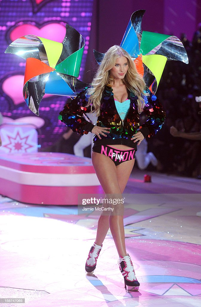 Model Elsa Hosk walks the runway during the 2012 Victoria's Secret Fashion Show at the Lexington Avenue Armory on November 7 2012 in New York City