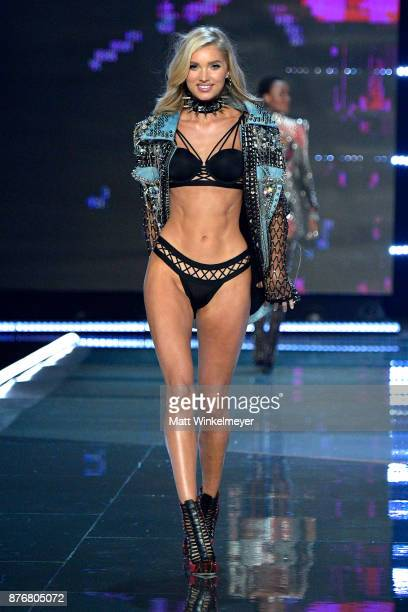 Model Elsa Hosk walks the runway during the 2017 Victoria's Secret Fashion Show In Shanghai at MercedesBenz Arena on November 20 2017 in Shanghai...